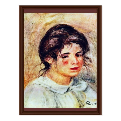 Retrato de Gabrielle de Pierre-Auguste Renoir Tarjeta Postal