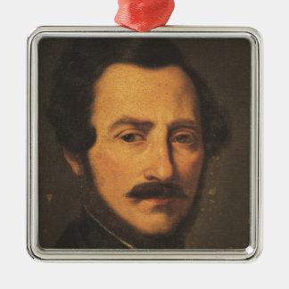 Retrato de Gaetano Donizetti Adorno Navideño Cuadrado De Metal