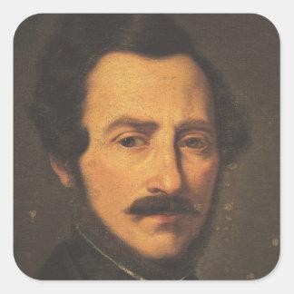 Retrato de Gaetano Donizetti Pegatina Cuadrada