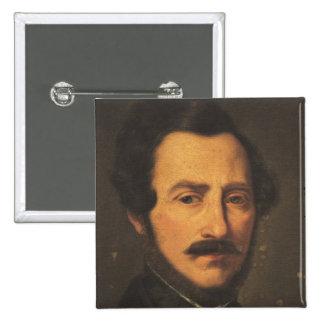Retrato de Gaetano Donizetti Pin Cuadrado