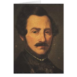 Retrato de Gaetano Donizetti Tarjeta De Felicitación