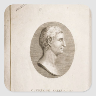 Retrato de Gaius Crispus Sallust Pegatina Cuadrada