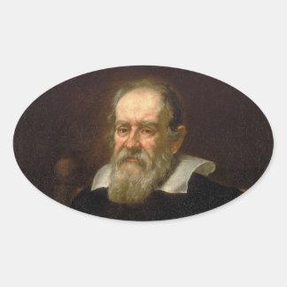 Retrato de Galileo Galilei de Justus Sustermans Pegatina Óval