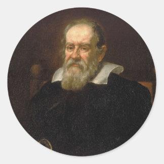 Retrato de Galileo Galilei de Justus Sustermans Pegatina Redonda