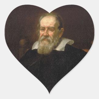 Retrato de Galileo Galilei de Justus Sustermans Pegatina En Forma De Corazón