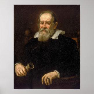 Retrato de Galileo Galilei de Justus Sustermans Póster