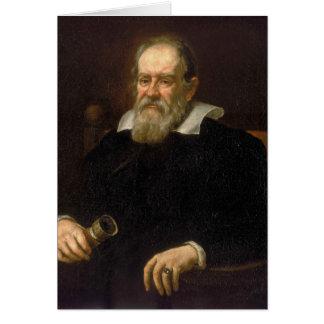 Retrato de Galileo Galilei de Justus Sustermans Tarjeta De Felicitación