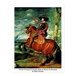 Retrato de Gaspar De Guzmán, duque Of Olivares Tarjetas Postales