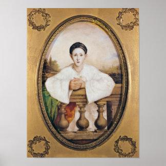 Retrato de Gaspar Deburau como Pierrot, c.1815 Póster