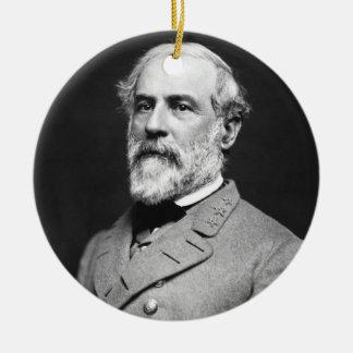 Retrato de general confederado Roberto E. Lee Adorno Redondo De Cerámica