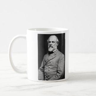 Retrato de general confederado Roberto E. Lee Taza