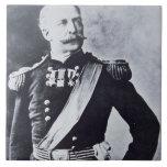 Retrato de general de brigada Nelson A. Miles (183 Azulejo Cuadrado Grande