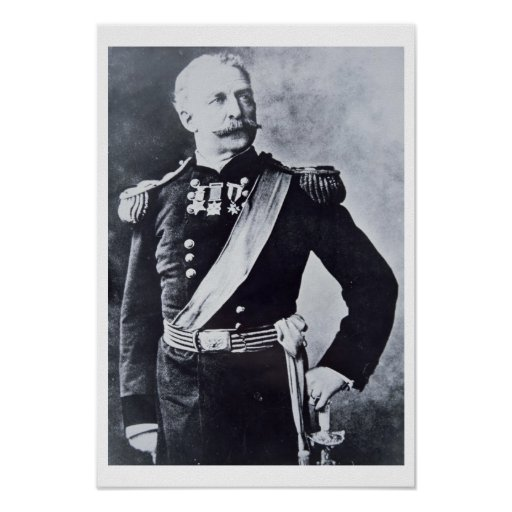 Retrato de general de brigada Nelson A. Miles Póster
