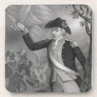 Retrato de general Francisco Marion en la batalla  Posavasos