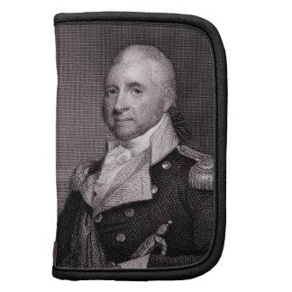Retrato de general importante Juan Brooks, grabado Organizador