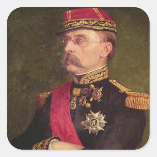 Retrato de general Louis Faidherbe 1884 Pegatina Cuadrada