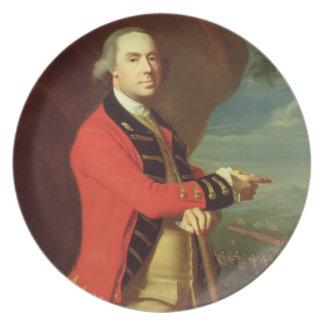 Retrato de general Thomas Gage, c.1768 (aceite en  Plato Para Fiesta