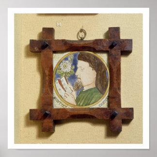 Retrato de Geoffrey Chaucer (c.1340-1400) (cerami Póster