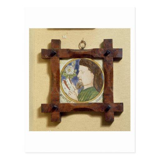 Retrato de Geoffrey Chaucer (c.1340-1400) (cerami Tarjeta Postal