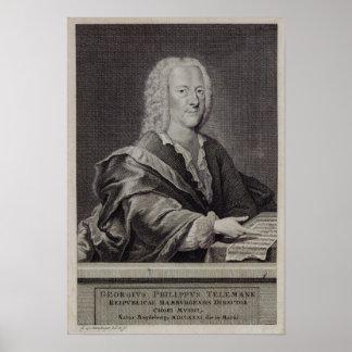 Retrato de Georg Philipp Telemann Posters