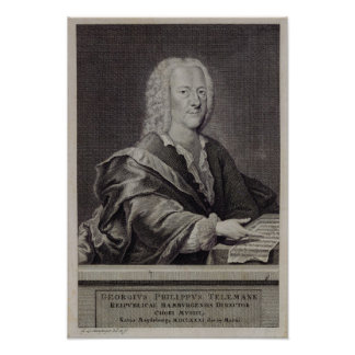 Retrato de Georg Philipp Telemann Póster