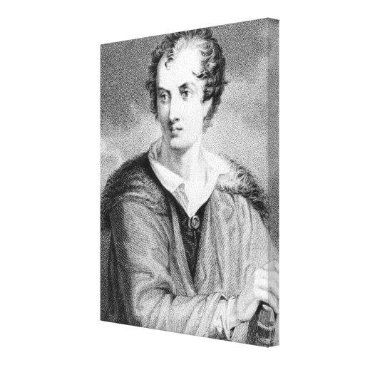 Retrato de George Gordon Impresión En Lienzo