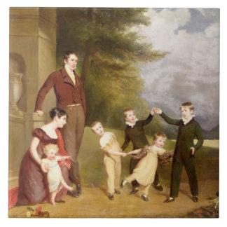 Retrato de George Granville Leveson-Gower y el suy Azulejo Cuadrado Grande