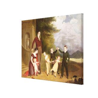 Retrato de George Granville Leveson-Gower y el suy Impresion En Lona
