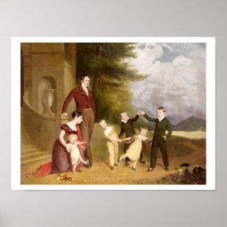 Retrato de George Granville Leveson-Gower y el suy Poster