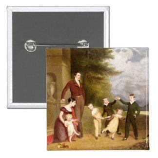 Retrato de George Granville Leveson-Gower y el suy Pin Cuadrada 5 Cm