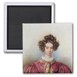 Retrato de George Sand 1830 Imán Cuadrado