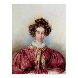 Retrato de George Sand 1830 Postal
