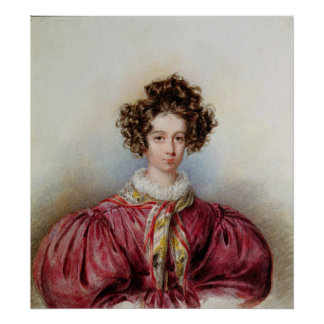 Retrato de George Sand 1830 Póster