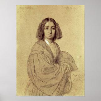Retrato de George Sand 1837 Posters
