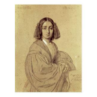 Retrato de George Sand 1837 Postal