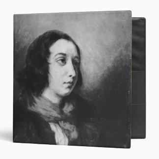 "Retrato de George Sand, 1838 Carpeta 1 1/2"""