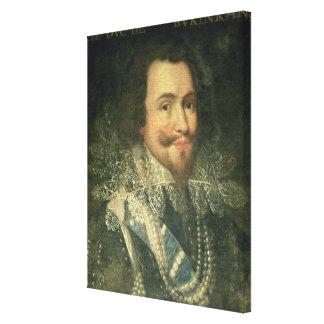 Retrato de George Villiers, 1r duque de Buckingha Impresiones En Lona
