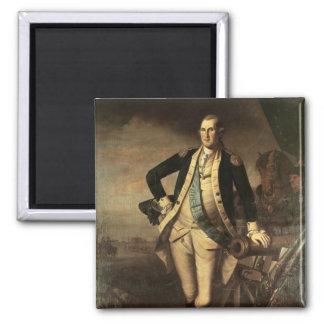 Retrato de George Washington, 1779 Imán Cuadrado