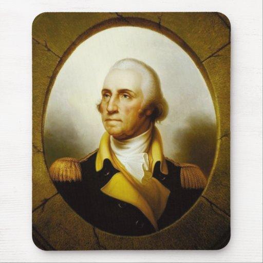 Retrato de George Washington Alfombrillas De Ratón