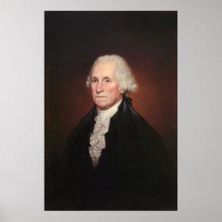 Retrato de GEORGE WASHINGTON de Rembrandt Peale Póster