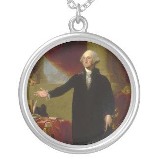 Retrato de George Washington Lansdowne por Collar Plateado