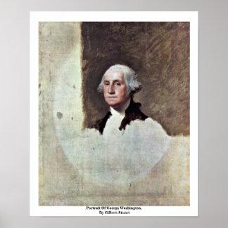Retrato de George Washington, por Gilbert Estuardo Póster