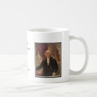 Retrato de George Washington y taza de la cita