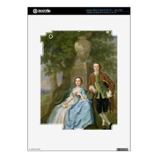 Retrato de George y de Margaret Rogers, c.1748-50 iPad 3 Skins
