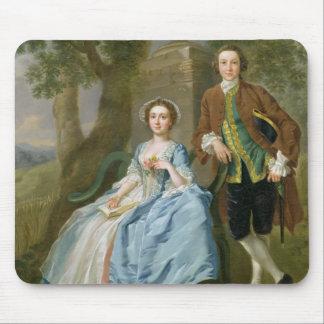 Retrato de George y de Margaret Rogers, c.1748-50 Alfombrillas De Ratón