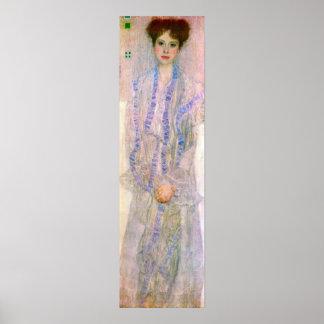 Retrato de Gertha Fersovanyi de Gustavo Klimt Posters