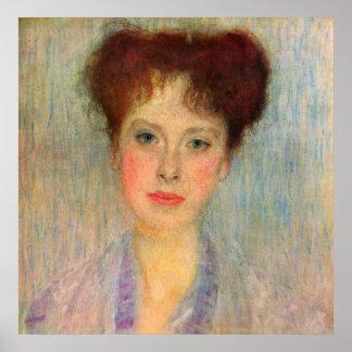 Retrato de Gertha Fersovanyi (detalle) por Klimt Posters