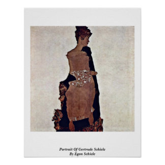 Retrato de Gertrudis Schiele de Egon Schiele Posters