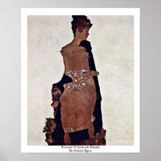Retrato de Gertrudis Schiele de Schiele Egon Poster
