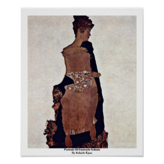 Retrato de Gertrudis Schiele de Schiele Egon Posters